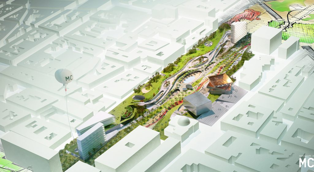 Il masterplan San Berillo a Catania, su progetto di Mario Cucinella e Andreas Kipar, tra i vincitori del Premio Urbanistica 2016 © Mca Architects