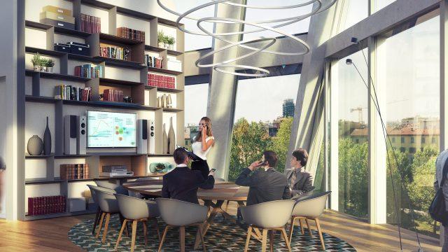 Microsoft italia sceglie degw per la nuova sede nel centro - Architetto interni milano ...