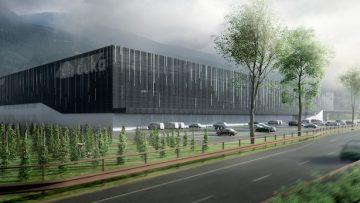 Il nuovo stabilimento Duka secondo Kerschbaumer & Pichler