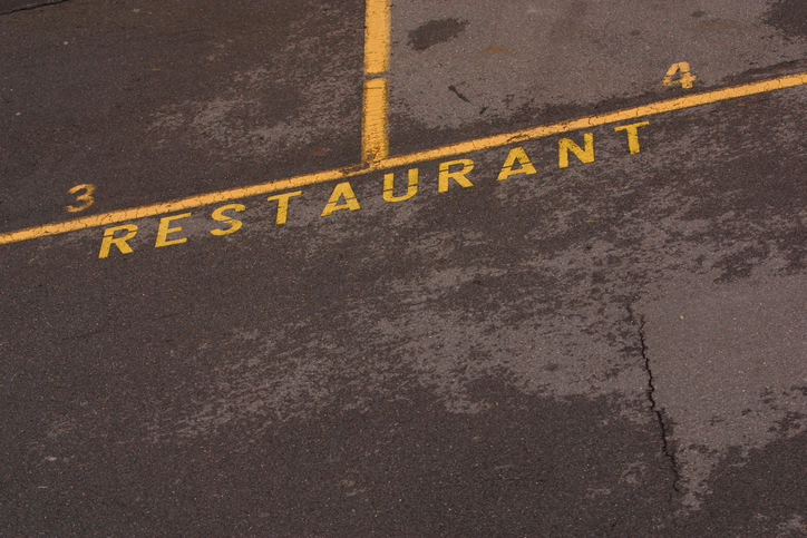Restaurant parking spaces