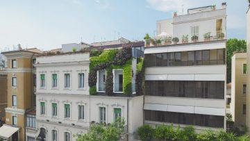 Un giardino verticale per la facciata dell'Hotel Beldes a Prati
