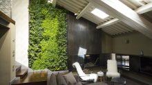 Un giardino verticale in un loft mansardato a Vicenza