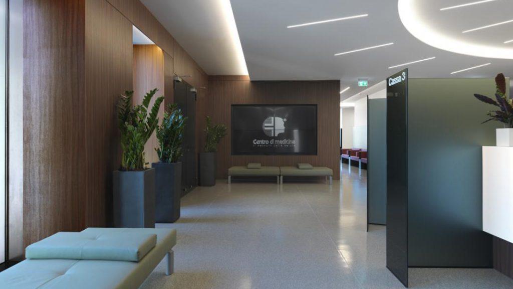 Interni del Centro di Medicina di Mario Mazzer Architects a Conegliano Veneto
