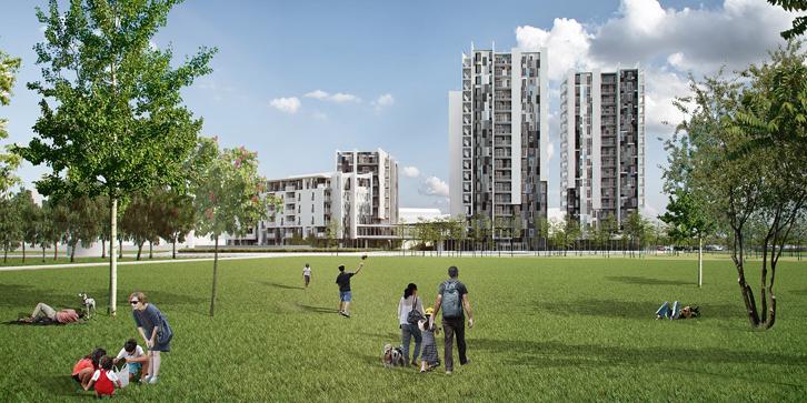Social housing Orizzonti di Cielo a Milano, tra via Novate e via Calizzano, progettato da ITIstudio