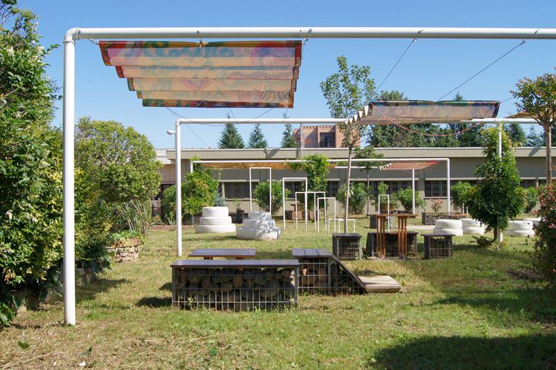 Area colloqui all'aperto del Carcere di Torino, Casa Circondariale Lorusso e Cutugno (To), capogruppo Stefania Manzo - (C) Attilio Piano