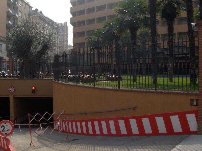 Giardino pensile su hotel Royal Carlton di Bologna