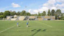 Edilizia sportiva in legno e metallo: lo stadio del Lidingö Football Club