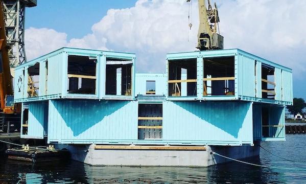 Lo studentato fatto di container galleggianti: Urban Rigger di BIG