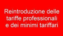Minimi tariffari e tariffe professionali: la petizione che sta facendo discutere