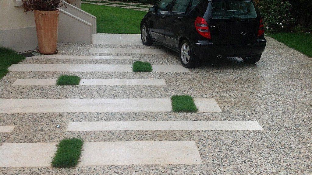 Pavimentazioni in ghiaino e ciottoli mazzocato firma for Ciottoli per giardino on line