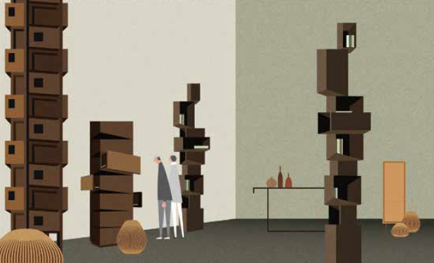The Column Bookcases - © Samuel Chan