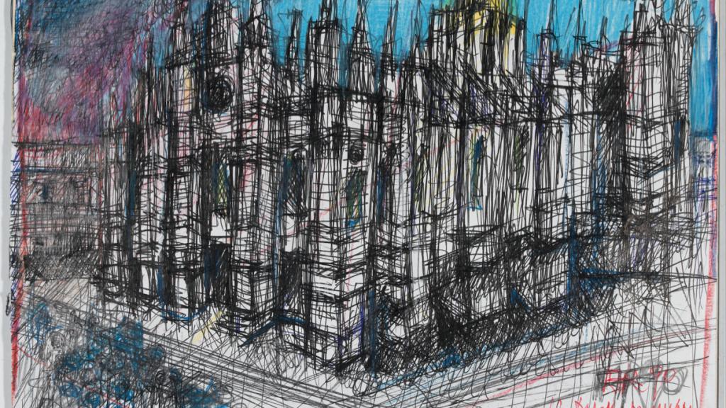l Duomo di Milano, 1990, matite colorate e penna su carta, cm 42 x 50, 5 © Eredi Aldo Rossi - courtesy Fondazione Aldo Rossi