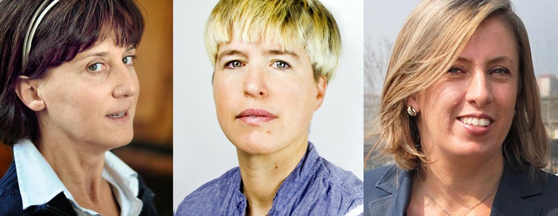 """Da sinistra: Silvia Vitali, Francesca Perani e Mariacristina Brembilla, le prime tre """"architette"""" d'Italia"""