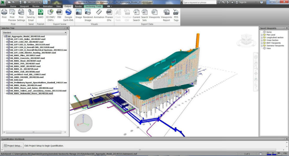 L'utilizzo del software Autodesk Navisworks nella commessa Amager Resource Center (per gentile concessione di BIG)