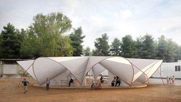 Architettura per l'emergenza: una piazza coperta per i rifugiati