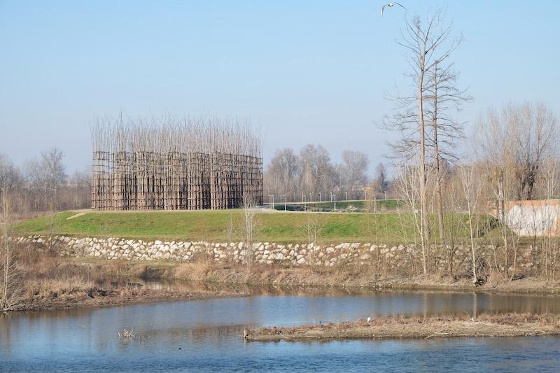 La Cattedrale Vegetale di Lodi sorge in un contesto naturale incontaminato lungo la riva sinistra del fiume Adda © 2017 Archivio Giuliano Mauri
