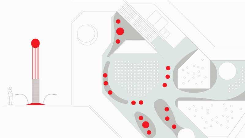 Planimetria di progetto e sezione tipo © Studio 0SA