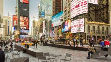 Il design urbano di Vestre arreda Times Square a New York