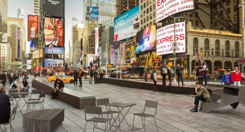 Il design urbano di vestre arreda times square a new york - Architetto arreda ...