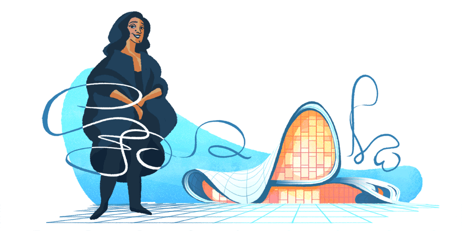 Il Doodle dedicato a Zaha Hadid