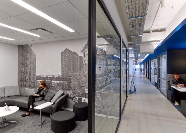 LinkedIn New York, le sale riunioni mostrano le foto di New York © Eric Laignel