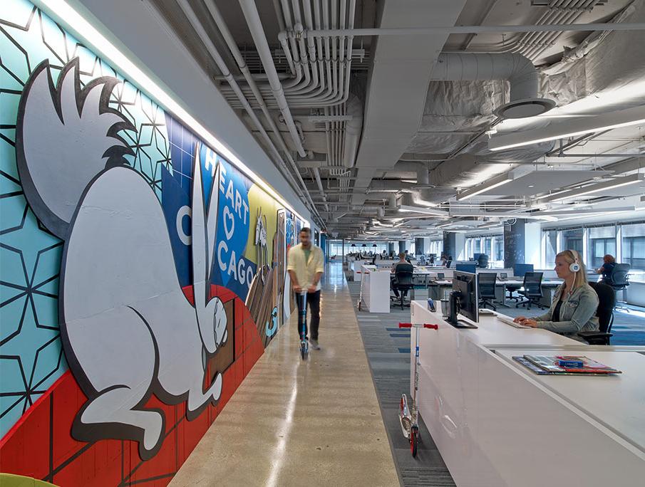 LinkedIn Chicago, gli uffici open space