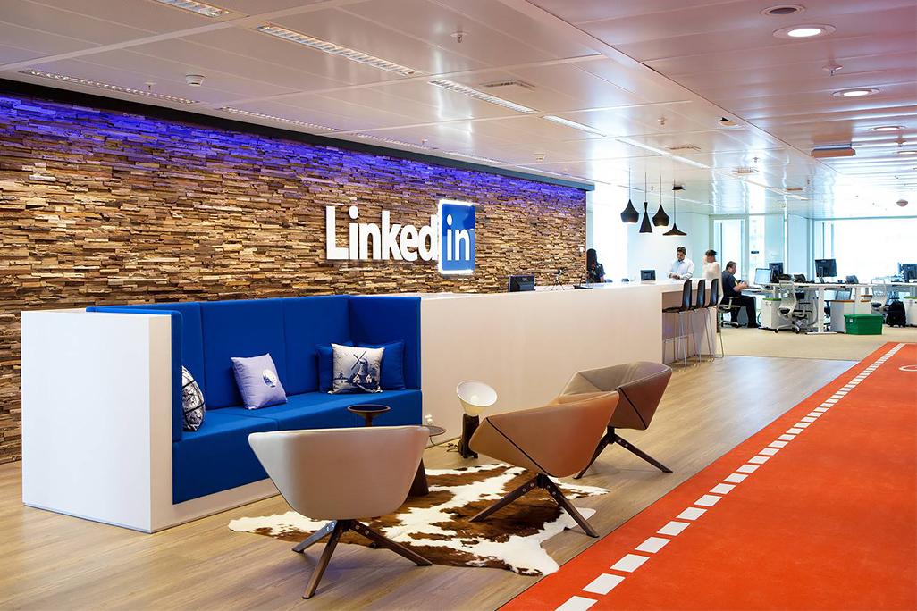 LinkedIn Amsterdam, la reception © Lensvelt