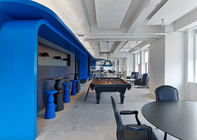 LinkedIn New York, l'angolo del biliardo © Eric Laignel