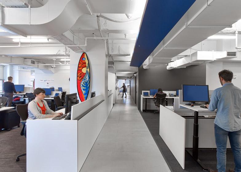 LinkedIn New York, ambienti di lavoro open space © Eric Laignel