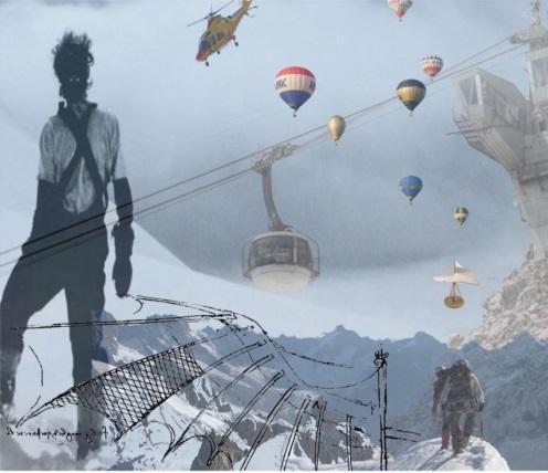 Skyway Monte Bianco - Progetto 3 posto Concorso di idee