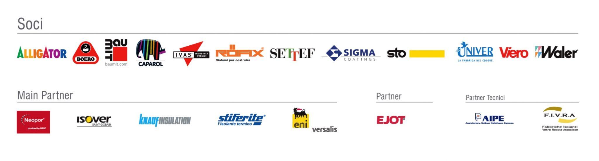 I loghi delle aziende appartenenti al Consorzio Cortexa