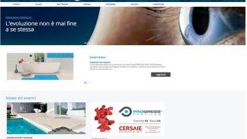 I profili tecnici e decorativi Progress Profiles sono online sul nuovo sito internet