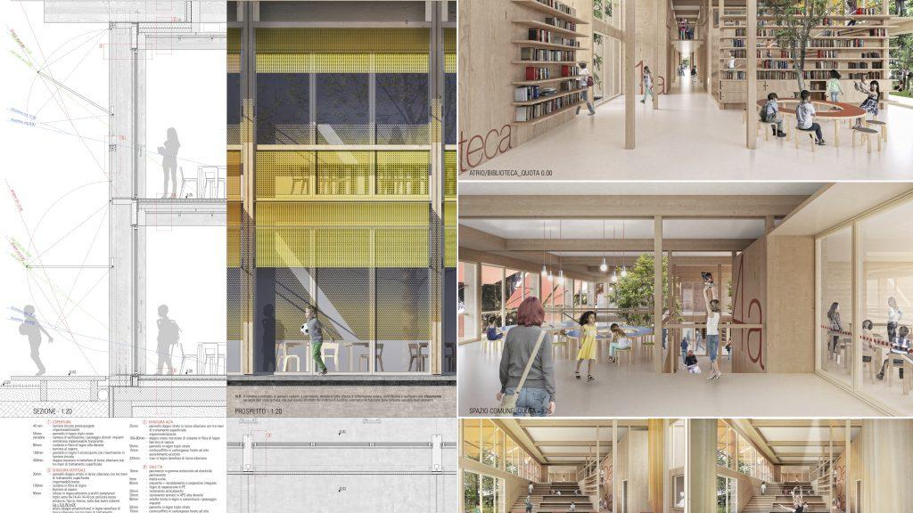 """concorso di progettazione per la """"Nuova Scuola Primaria Panoramica di Riccione"""""""