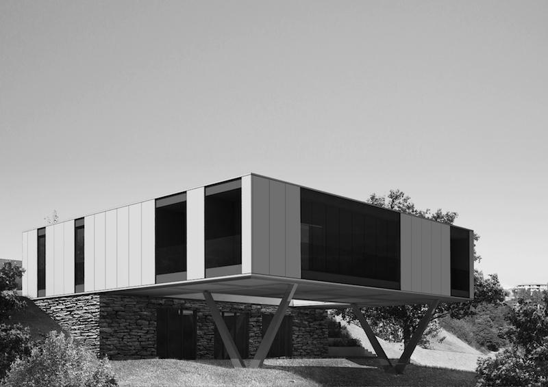 Villa CH-O nel paesaggio rurale dell'Umbria © LAD - Laboratorio di Architettura e Design