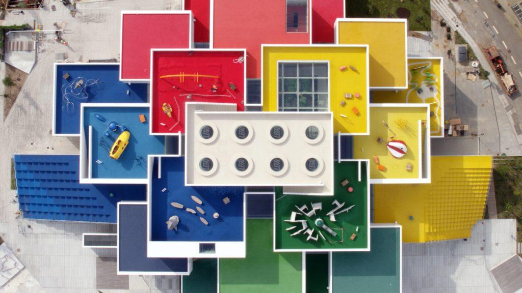La Lego House vista dall'alto © LEGO
