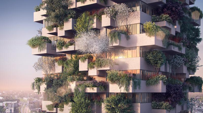 Stefano Boeri Architetti_Eindhoven Trudo Vertical Forest 2018 facade view