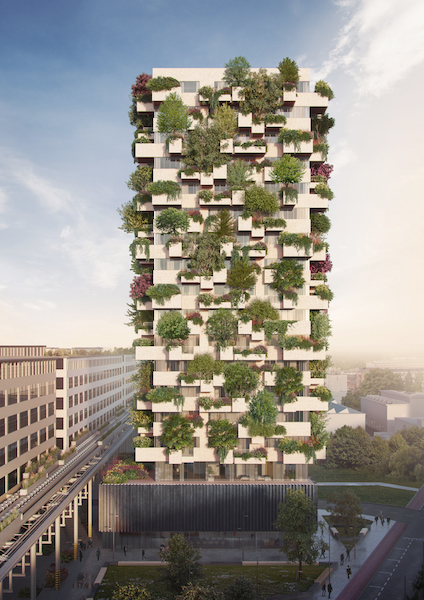 Stefano Boeri Architetti_Eindhoven Trudo Vertical Forest 2018 overall view
