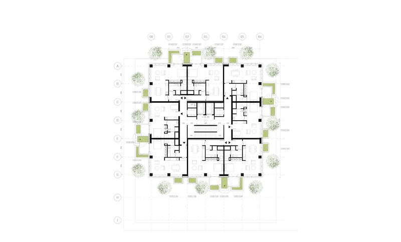 Stefano Boeri Architetti_Eindhoven Trudo Vertical Forest 2018 plan