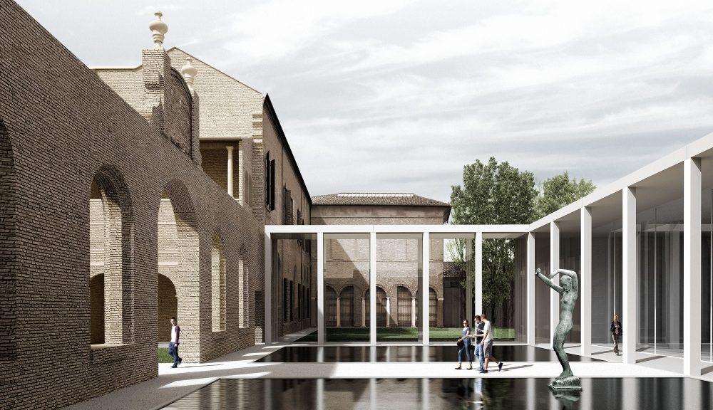 Nuovo padiglione per Palazzo dei Diamanti (© Labics)