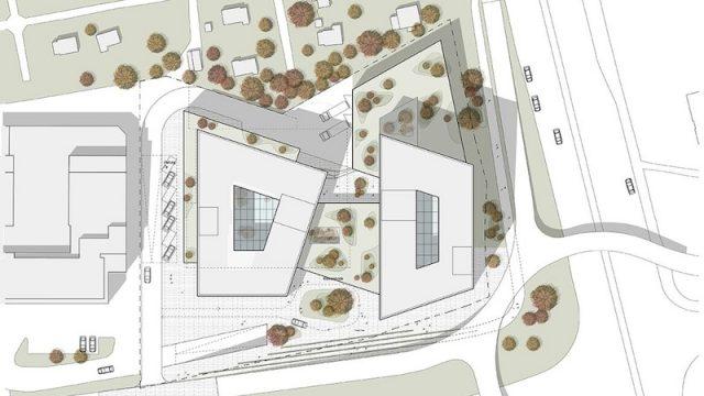 Masterplan del progetto: relazione tra struttura e contesto urbano.