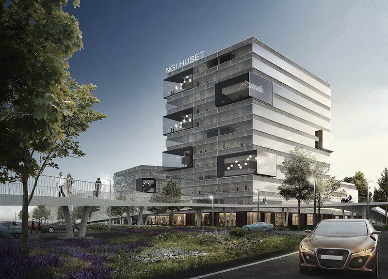Render della nuova sede del Norwegian Geotechnical Institute.
