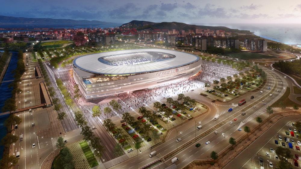 La proposta per il nuovo stadio di Cagliari elaborata da Sportium