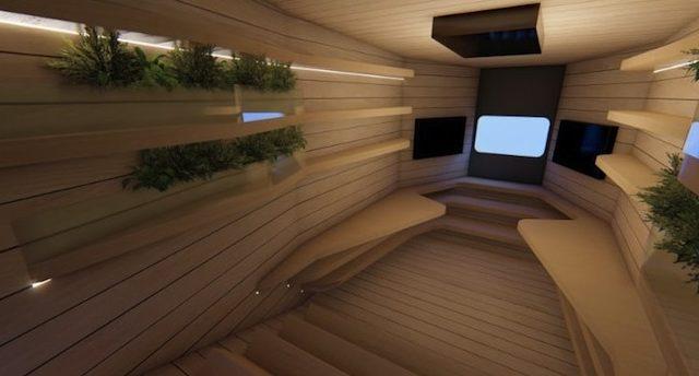 L'interno della Spaceship