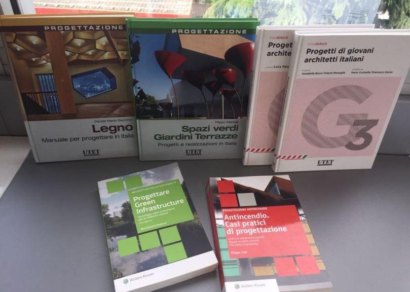 Alcuni volumi di architettura del catalogo Wolters Kluwer