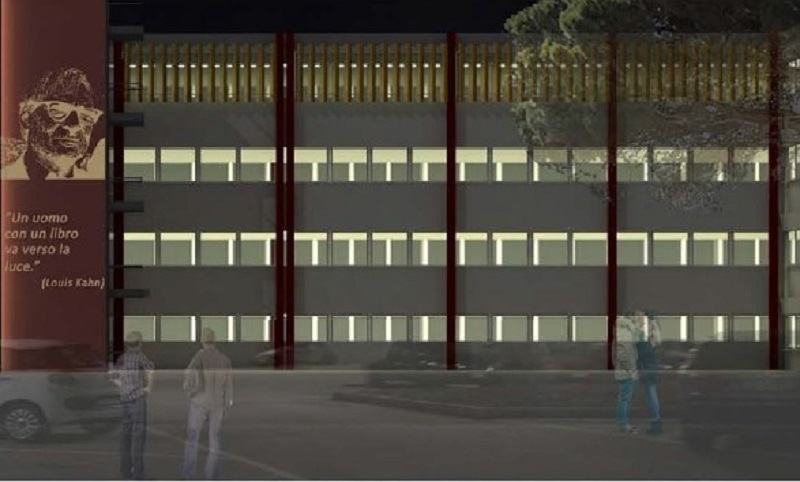 Ecco come sarà la facciata della biblioteca del Politecnico di Bari