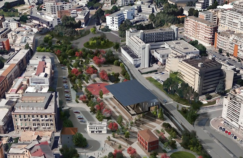 La trasformazione di piazza della Visitazione a Matera con il progetto di Stefano Boeri