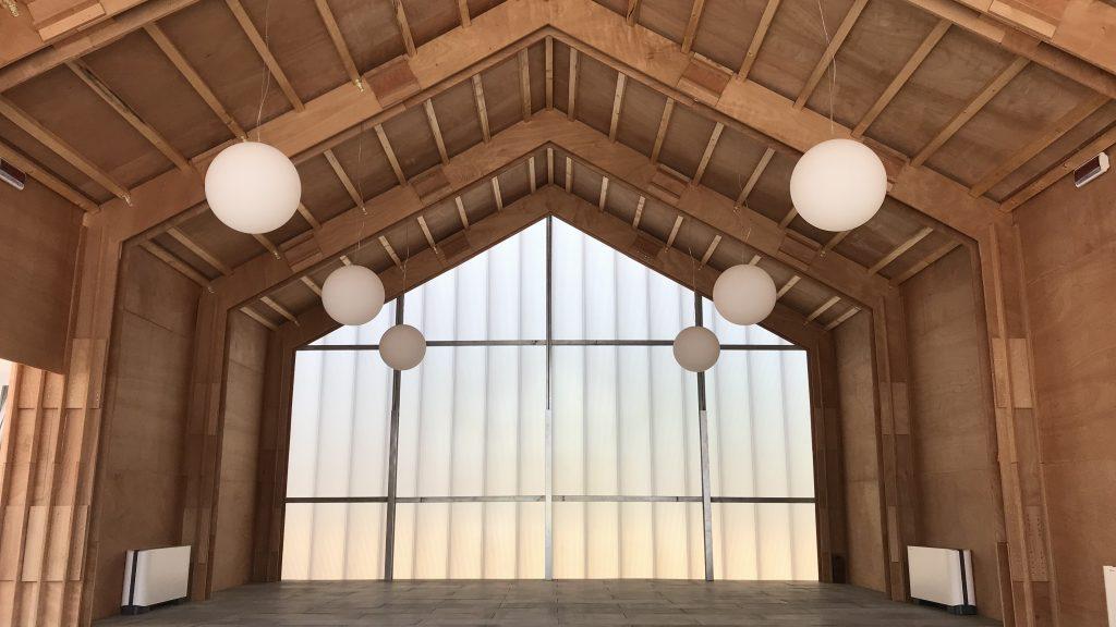 Com'è Accupoli, il nuovo centro polifunzionale realizzato ad Accumoli © Chiara Mezzasalma