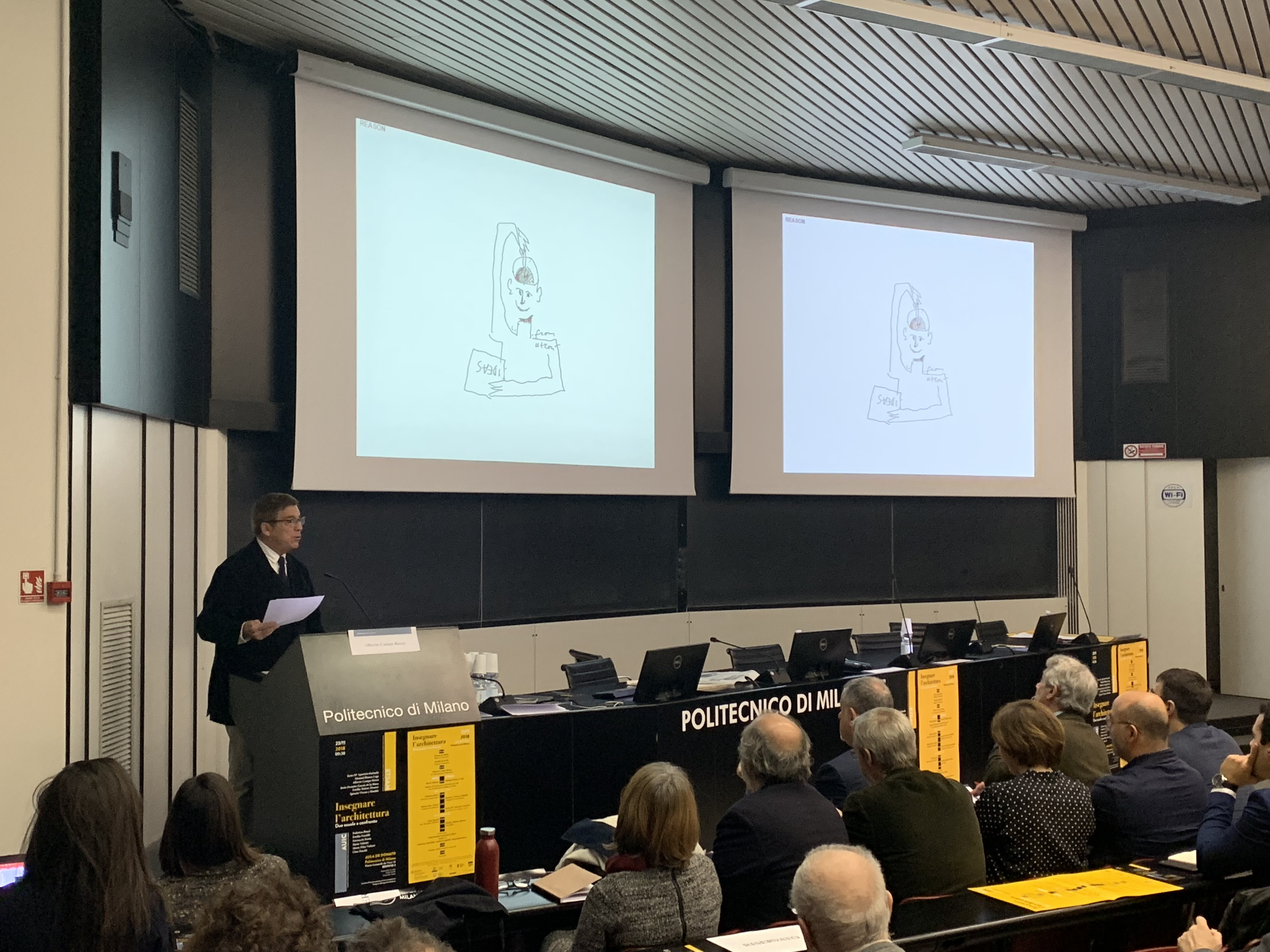 Alberto Campo Baeza - lecture - courtesy Politecnico di Milano