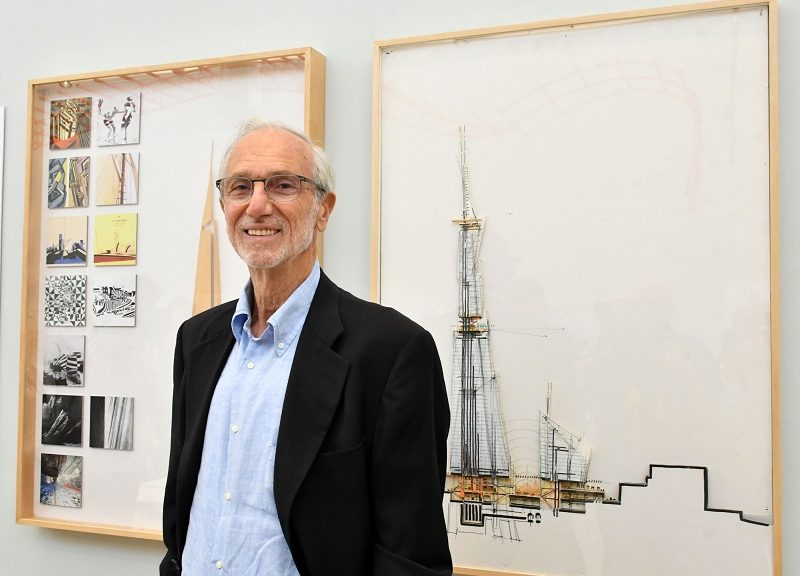 Renzo Piano. Credit: Photo by Nils Jorgensen/REX/Shutterstock  Renzo Piano with The Shard concept illustrations 'The Art of Making Buildings' photocall, Royal Academy of Arts, London, UK - 12 Sep 2018 Internationally renowned Architect and Honorary Royal Academician Renzo Piano opens a new exhibition of his work, the first comprehensive survey of Piano's career held in London since 1989, and offers an overview of the architect's practice through 16 of his most significant projects, include Centre Pompidou, Paris, The Shard, London and Whitney Museum of American Art, New York, at Royal Academy of Arts